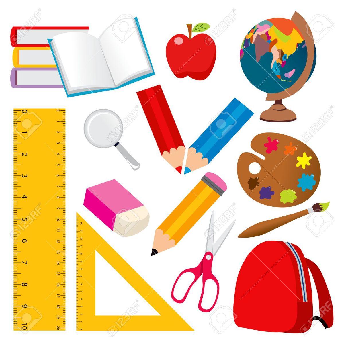 Los objetos de la escuela